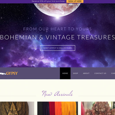 Bohemian & Vintage Treasures Website