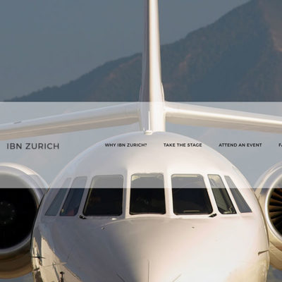 Airplane with Menu for IBN Zurich