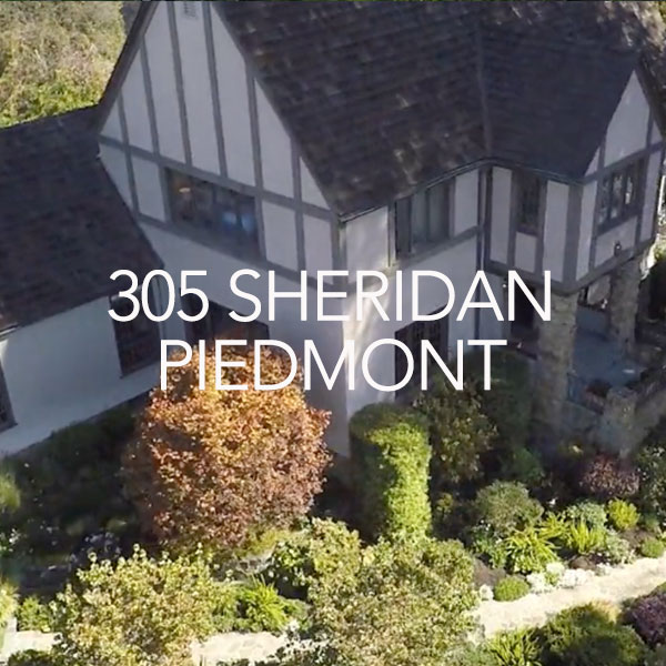 Aerial View of Home at 305 Sheridan in Piedmont.