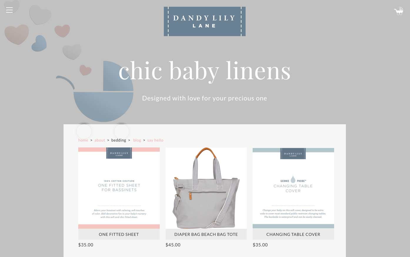Dandy Lily Lane Baby Accessories by Chic Baby Linens