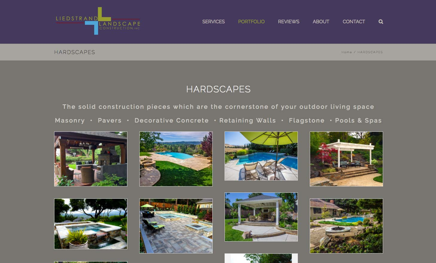 Landscape design website brand wpf creatives for Landscape design site