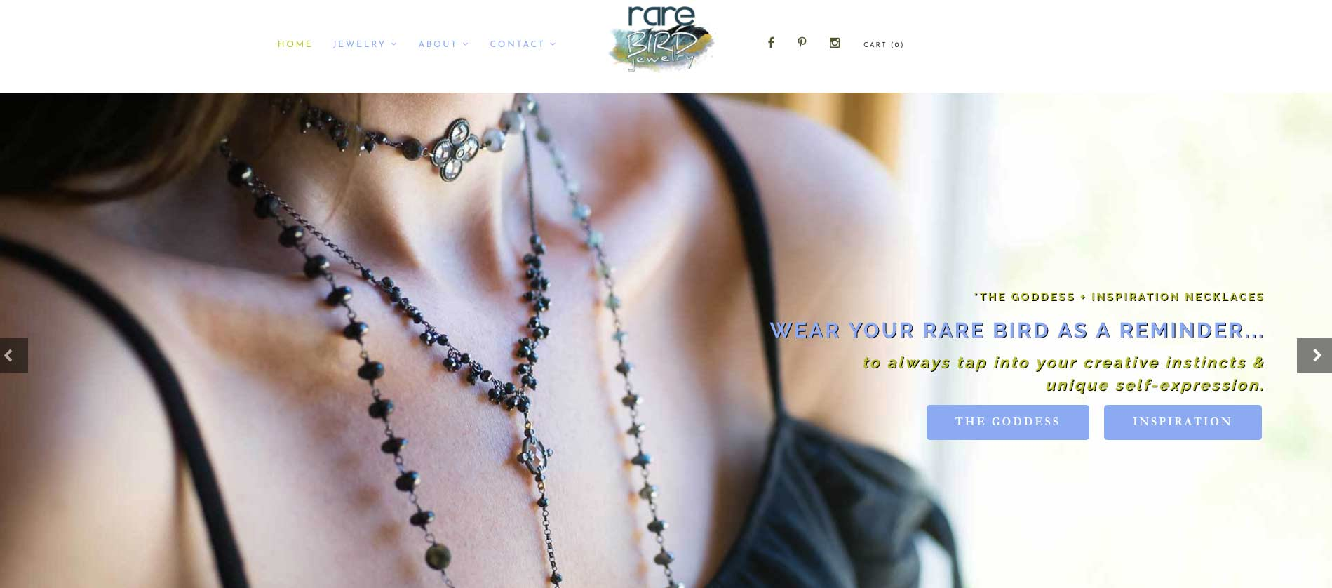 Rare Bird Jewelry home page slider by WPF Creatives