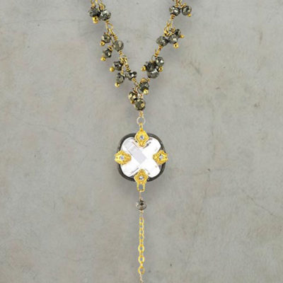 Gold and Silver Necklace with Beads