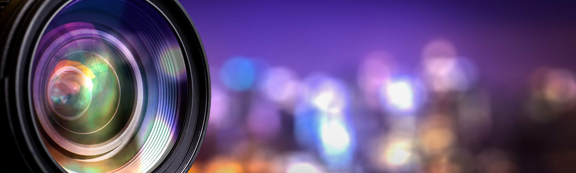 Video Lens with Purple Background