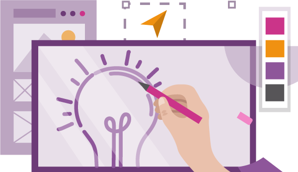 WPF Creatives icon for graphics and illustration